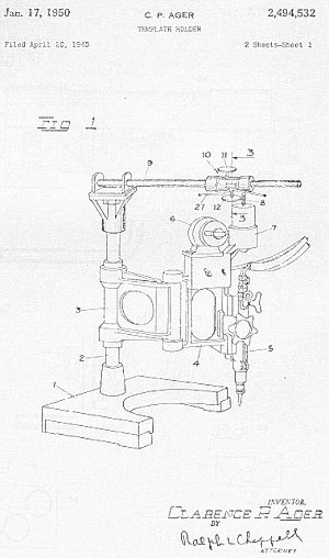 US Patent 2494532 Clarence P Ager